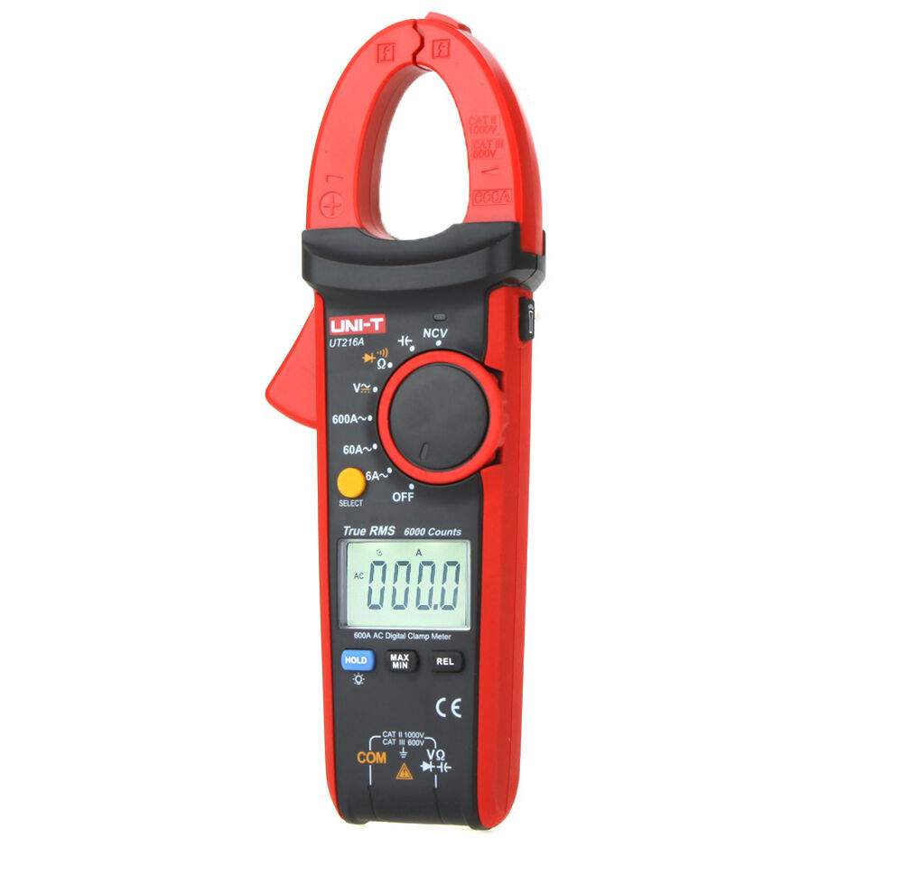 Ac Dc Clamp Meter : Uni t ut a true rms digital clamp meter ac amp dc