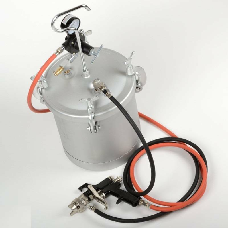 High Pressure Pot Air Paint Spray Gun 2 1 4 Gallon