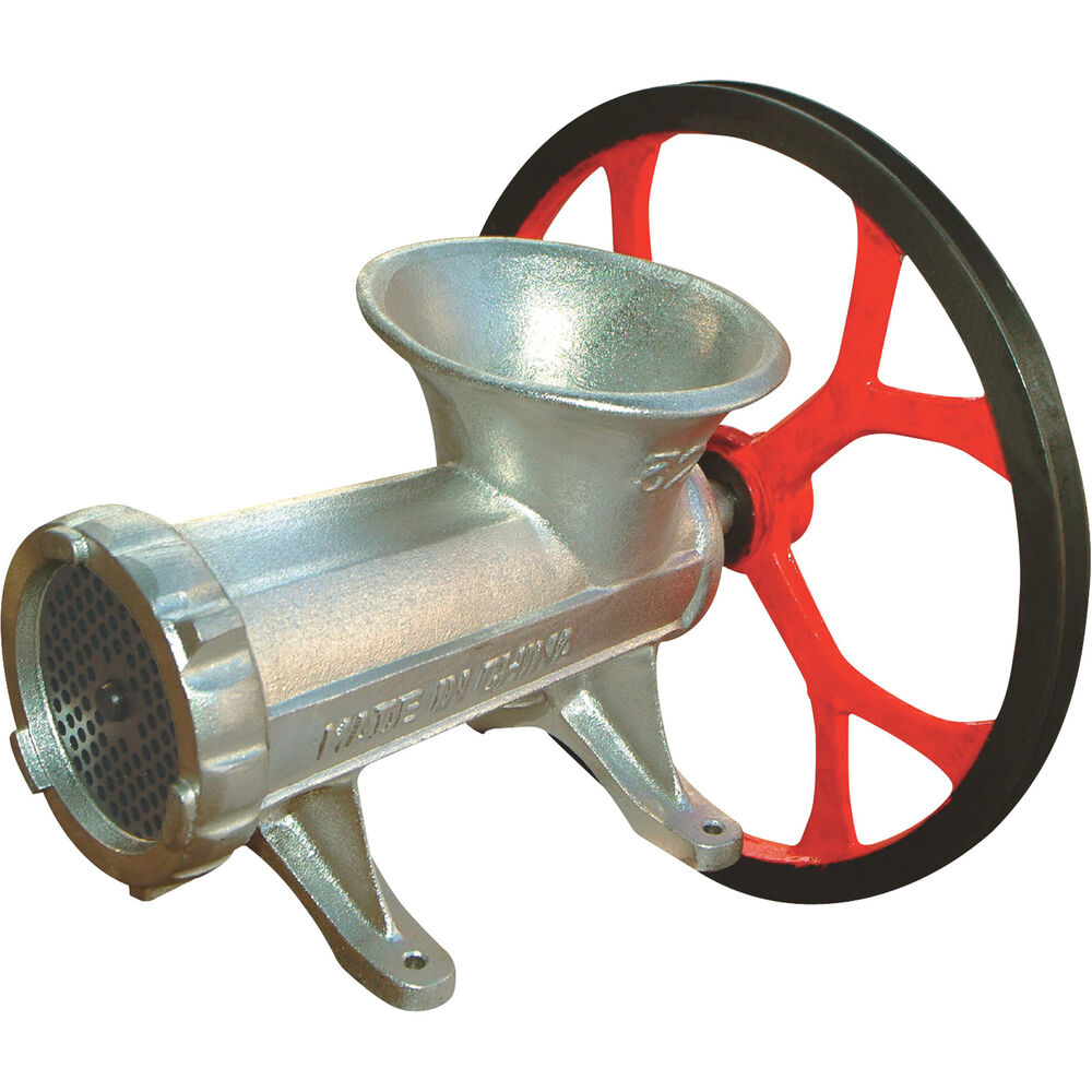 Hand Meat Grinders For Home Use ~ Kitchener meat grinder w v belt pulley k ebay