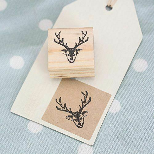 East of india stag wooden rubber stamp xmas craft for Custom craft rubber stamps