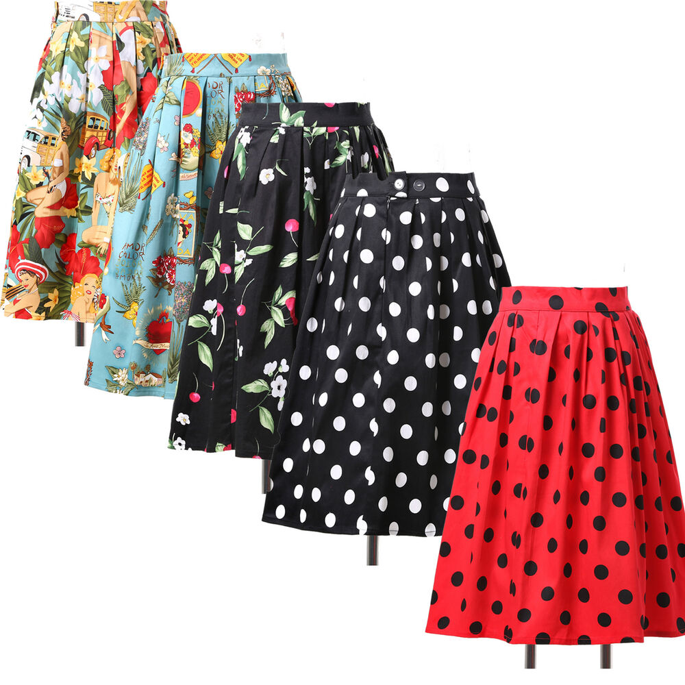 Xmas cheap retro skirt 50 s pinup swing vintage floral evening dress
