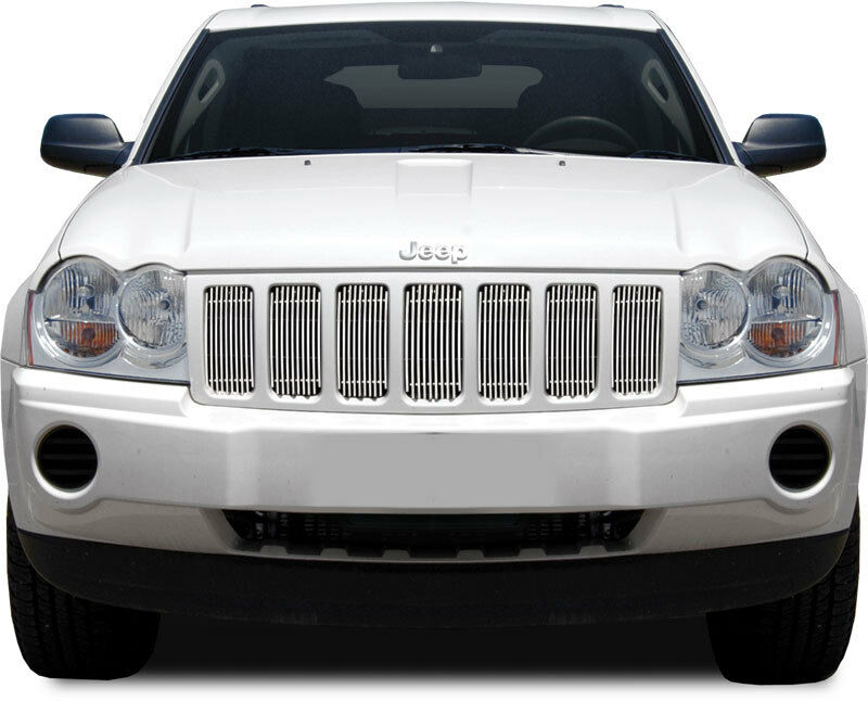 Fits Jeep Grand Cherokee 2005 2007 Chrome Billet Grille