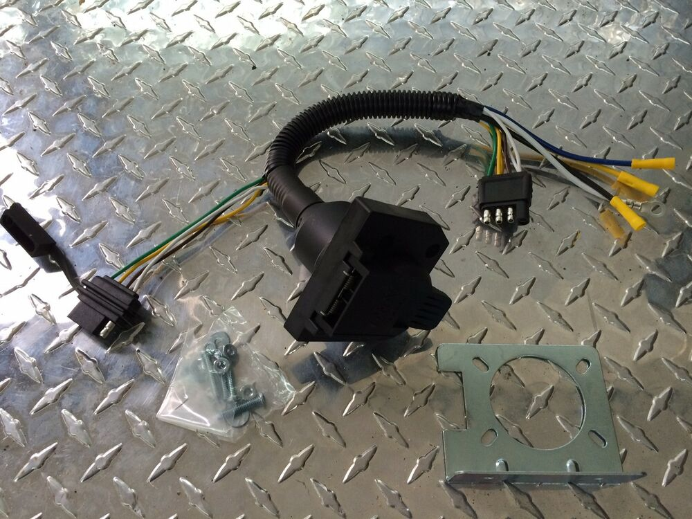 5 7 tbi wiring harness adapter / receiver kit 7 blade / 4 flat wiring connector ... 7 blade wiring harness