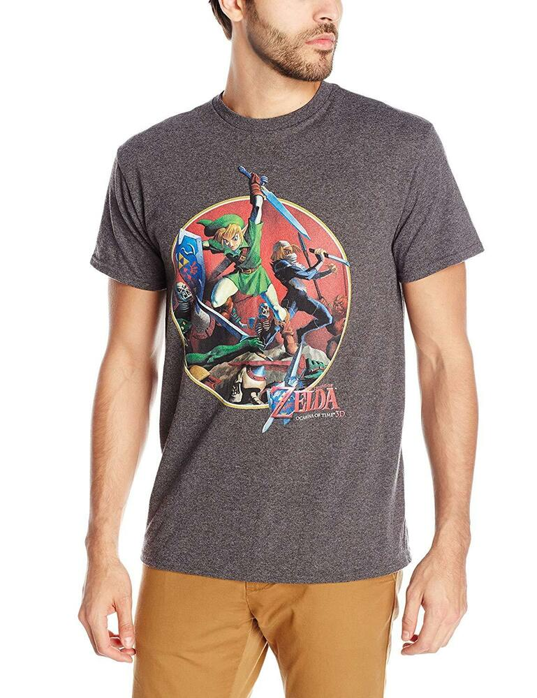 Adult charcoal video game the legend of zelda link sword for Game t shirts uk
