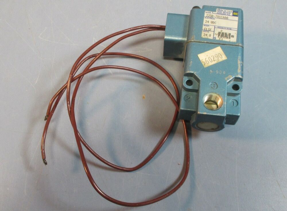 mac 225b 781caaa solenoid valve 24 vdc 2 wire connection nwob ebay