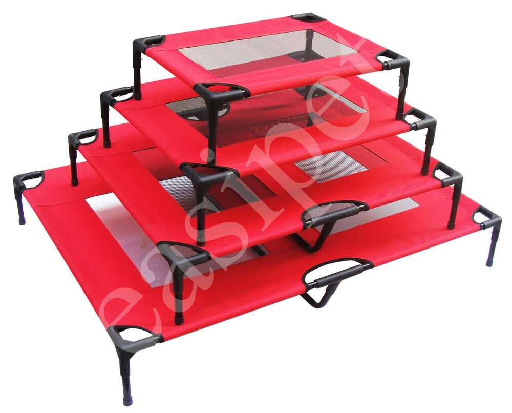 Dog Pet Cat Elevated Bed Portable Raised Camping Cot
