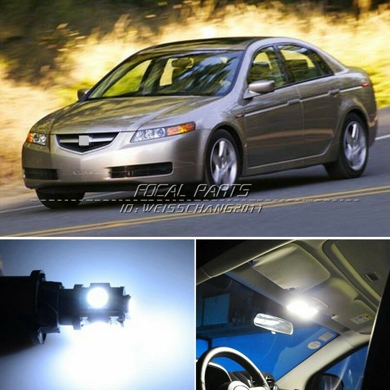 11 X Xenon White Led Lights Interior Package Kit For Acura Tl 04 08