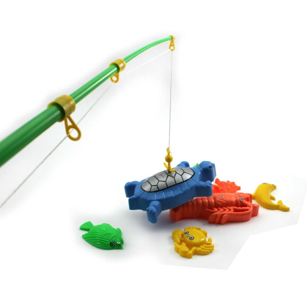 Child baby magnetic fishing fish rod various fish model for Toddler fishing pole toy
