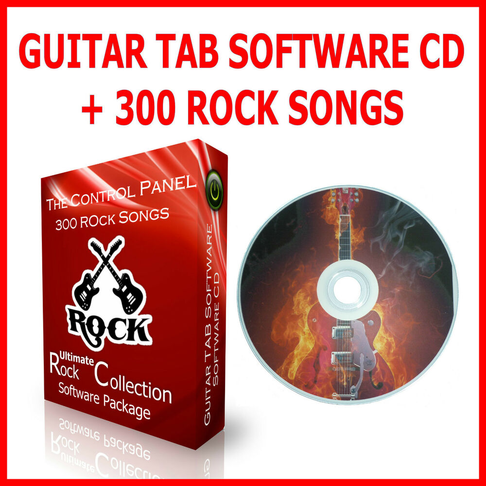 GUITAR TAB TABLATURE LEARNING CD + 300 ROCK SONG BOOK BEST OF GREATEST HITS : eBay