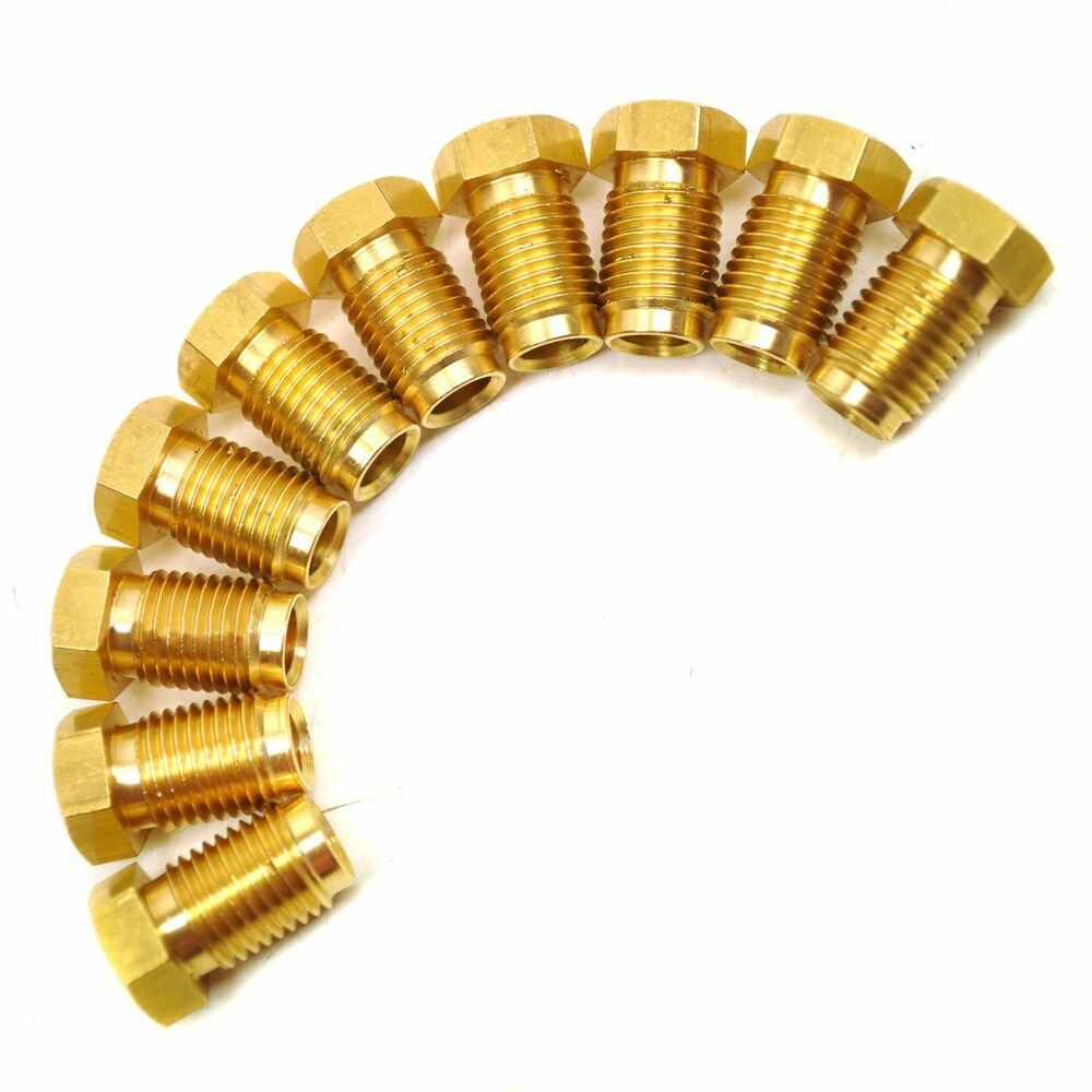 Brass brake pipe fittings quot unf male pack for