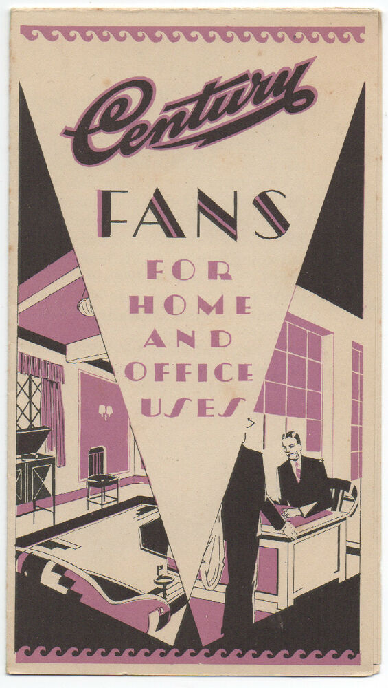 1920s art deco advertising brochure for century electric. Black Bedroom Furniture Sets. Home Design Ideas