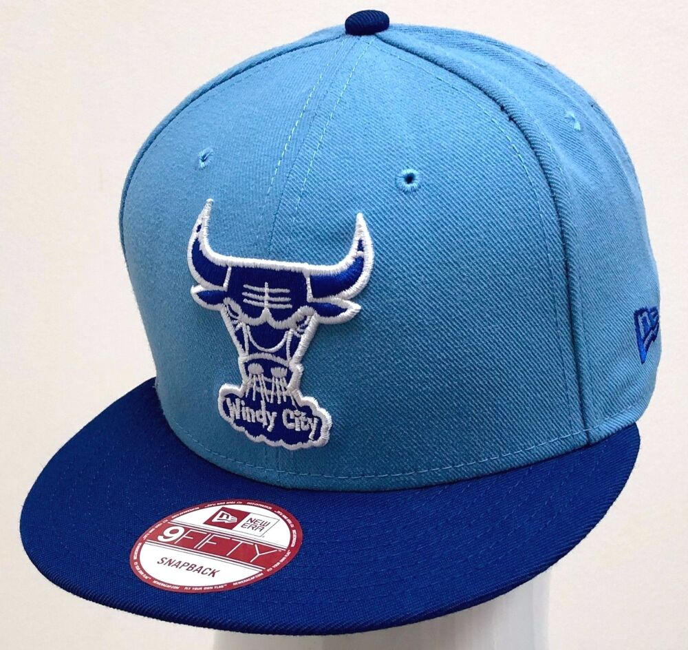 67ebe80b5cd34 Details about NEW ERA 2TONE 9FIFTY SNAPBACK CUSTOM NBA CHICAGO BULLS Sky  Blue Royal Blue