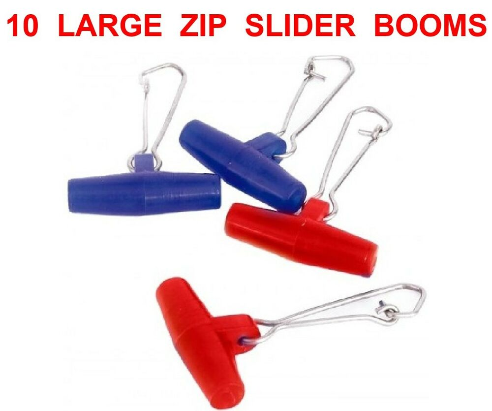 10 LARGE ZIP SLIDER BOOMS FOR SEA FISHING BOAT ROD LINE ...