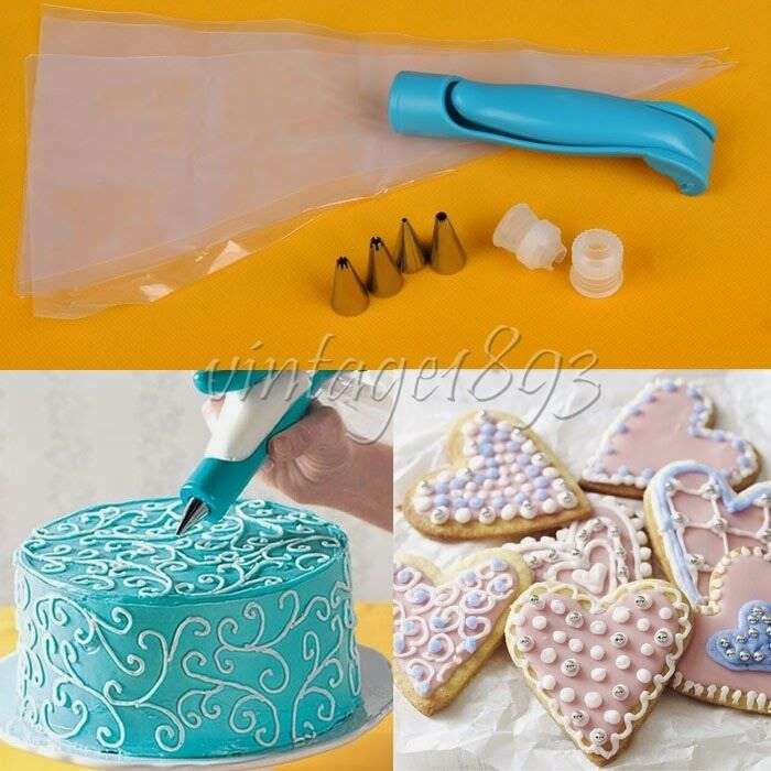 Pastry Bags Decorating Gun Kit Baking Tools Cake Milk ...