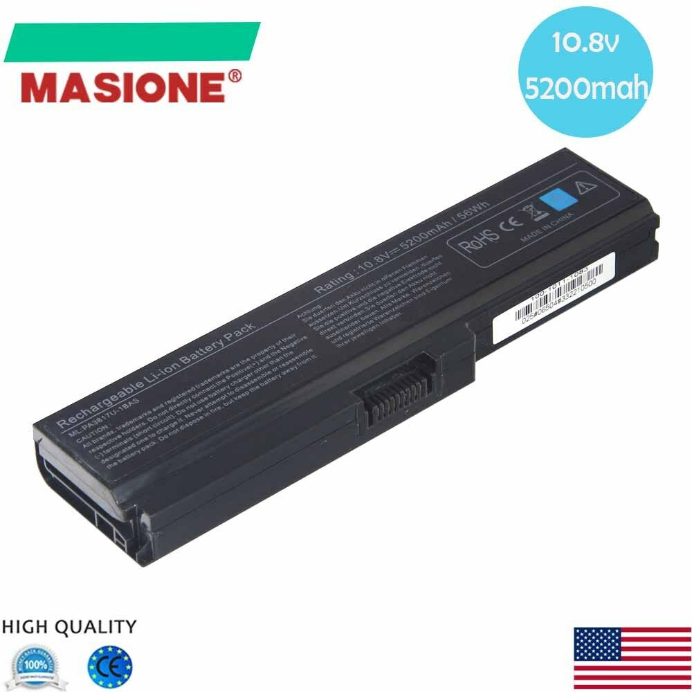 new 6 cell laptop battery for toshiba pa3817u 1bas pa3817u. Black Bedroom Furniture Sets. Home Design Ideas