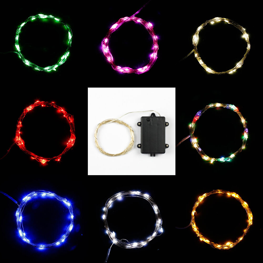 Wire String Lights Battery Operated : 10ft 3m 30leds Battery Operated Automatic Timer String Lights Thin Copper Wire eBay