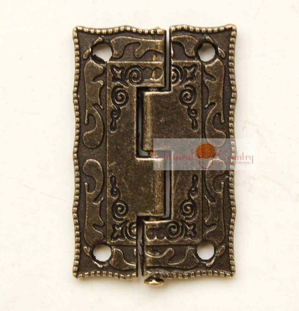 4sets Antique Hinges Furniture Jewelry Box Hardware