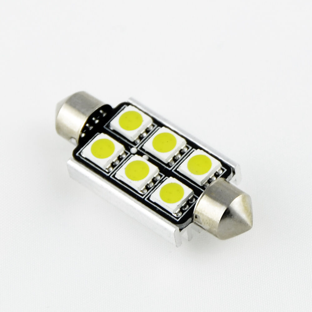 canbus 6 smd smd led soffitte innenraum 36 39 42mm lampe. Black Bedroom Furniture Sets. Home Design Ideas