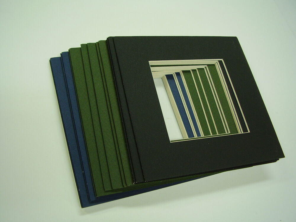 picture frame mat set of 16 mats x for blues greens blacks ebay. Black Bedroom Furniture Sets. Home Design Ideas
