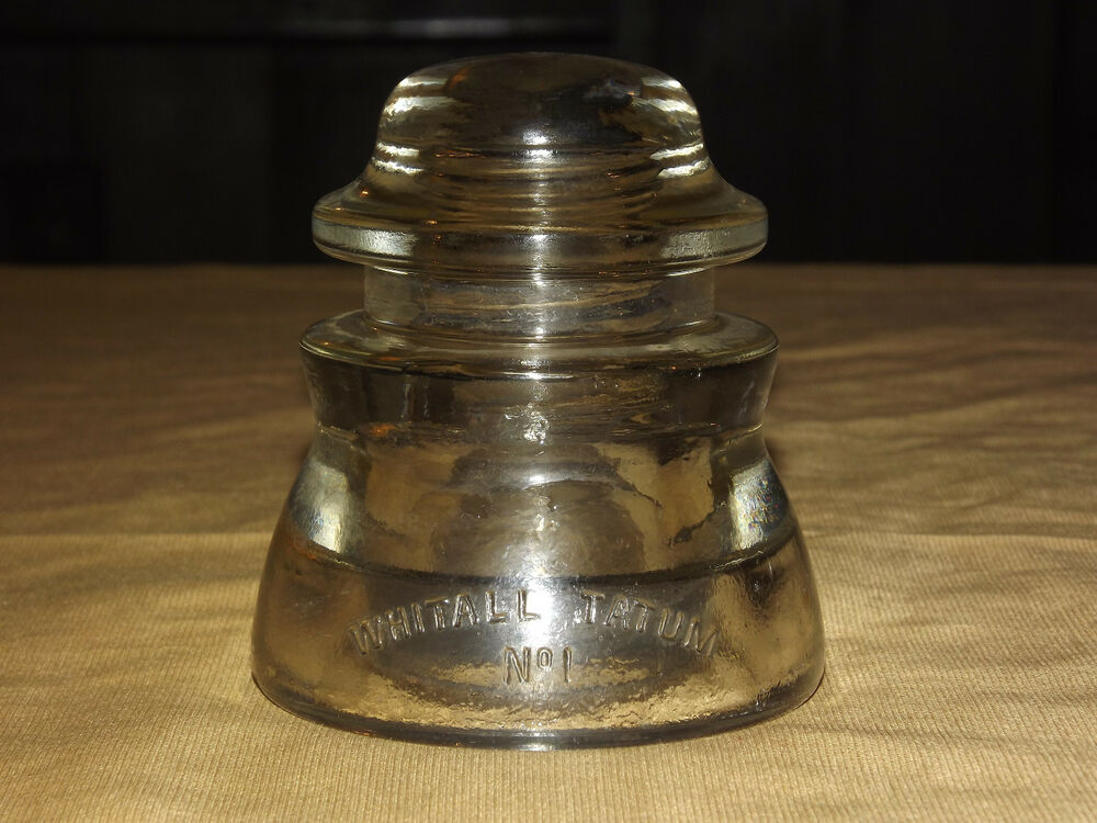 Vintage telephone old whitall tatum no 1 usa 40 44 glass for Collectible glass insulators