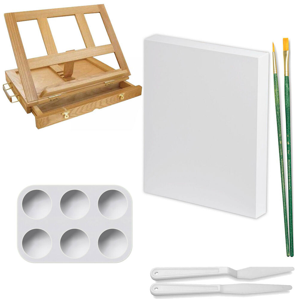 Us art supply 23 piece acrylic painting set with wooden for Acrylic mural paint supplies
