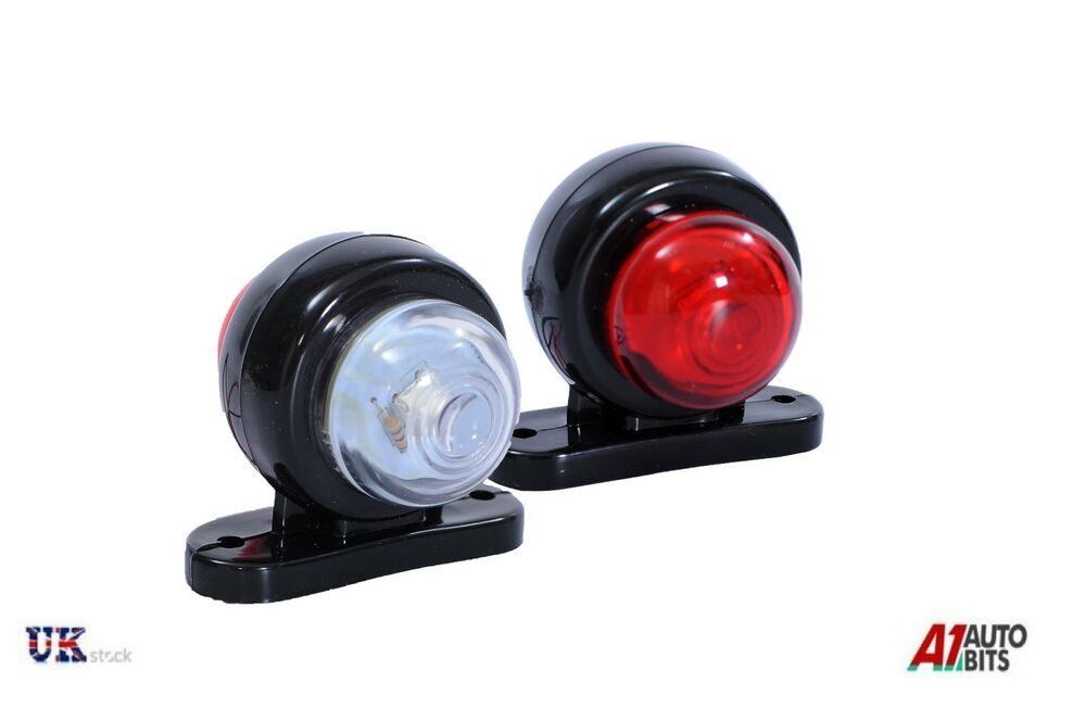 2x mini side rubber led marker lights trailer truck lorry. Black Bedroom Furniture Sets. Home Design Ideas