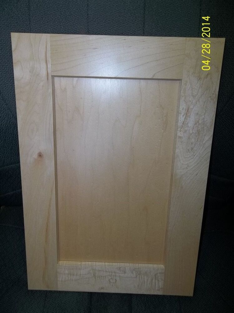 Shaker maple clear cabinet door 10 1 2 x 28 3 4 new ebay for Kitchen cabinets 10 x 15