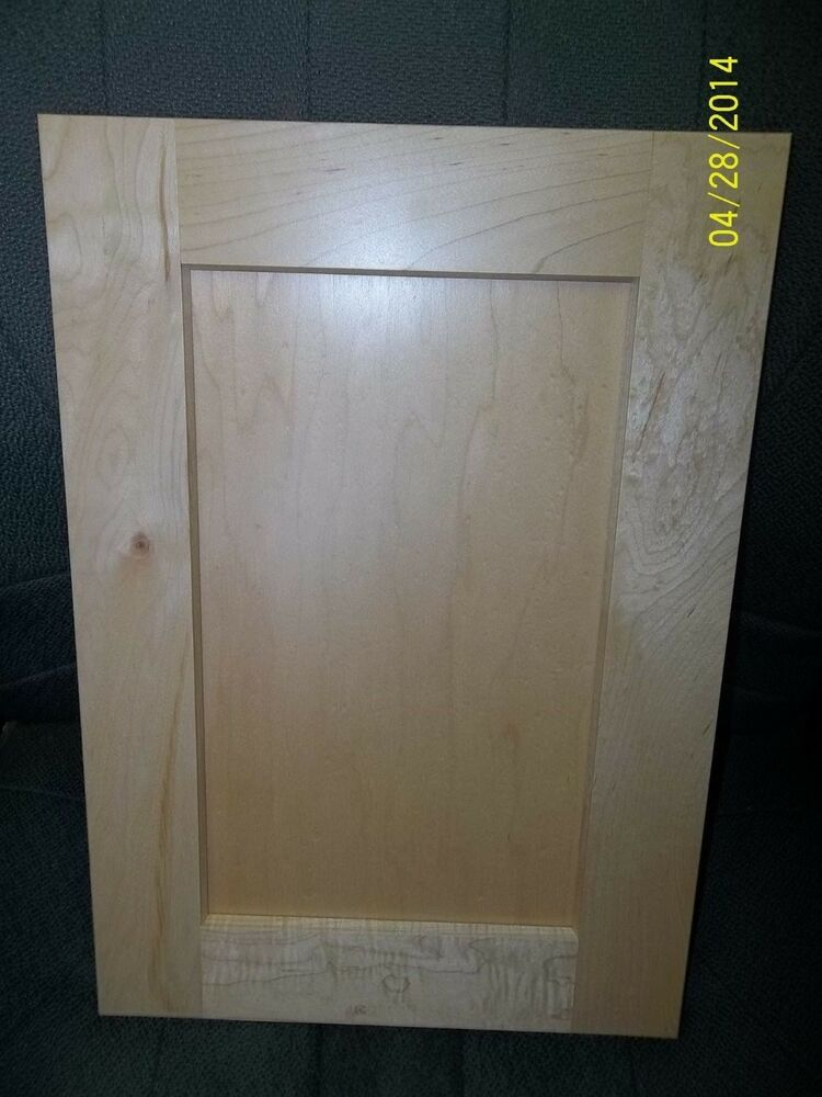 Shaker maple clear cabinet door 14 1 2 x 19 3 4 new ebay for 1 door cupboard