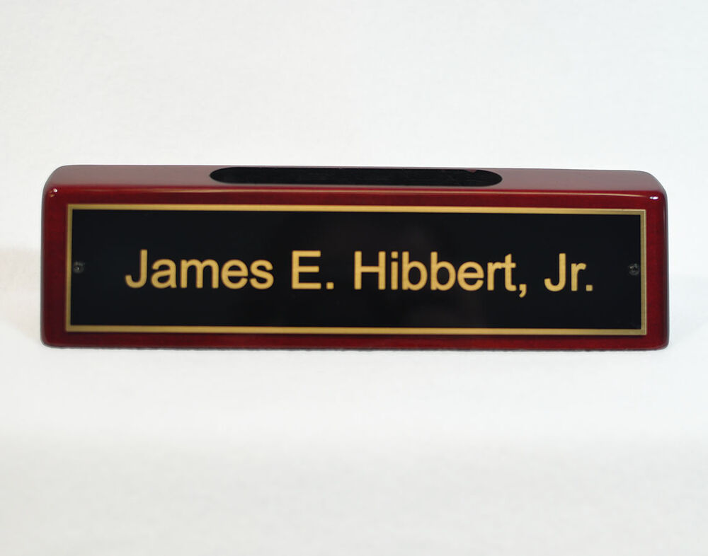 Name Plate: Engraved Desk Name Plate