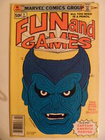 MARVEL FUN AND GAMES MAGAZINE ISSUE # 5.  JANUARY 1980.  RARE BRONZE AGE MARVEL