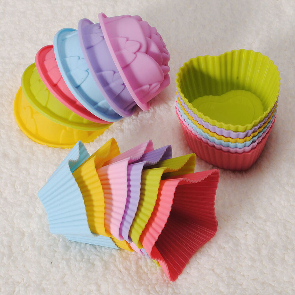 Soft silicone cake muffin chocolate cupcake bakeware baking cup mold