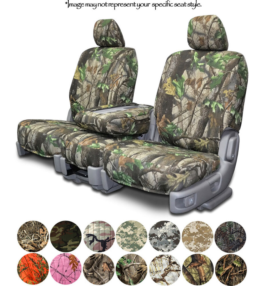 custom fit camo seat covers for cars trucks and suvs realtree true timber ebay. Black Bedroom Furniture Sets. Home Design Ideas