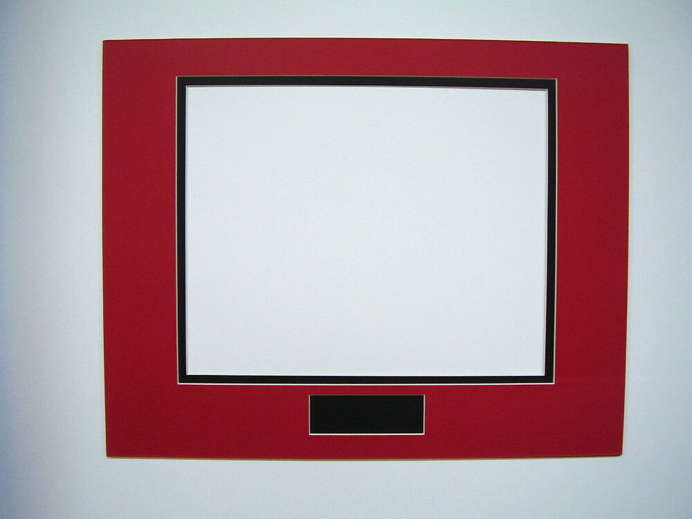 picture frame double mat 11x14 for 8x10 photo red with black liner ebay. Black Bedroom Furniture Sets. Home Design Ideas