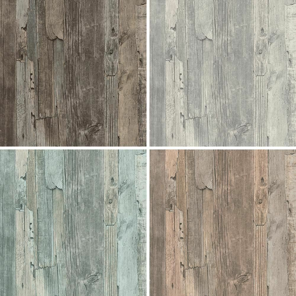 New As Creation Distressed Driftwood Wood Panel Faux Effect Embossed Wallpaper Ebay