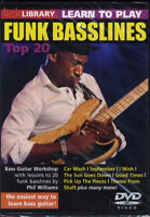 Learn to Play Funk Basslines Top 20 Lick Library Bass Guitar Tuition DVD Slap