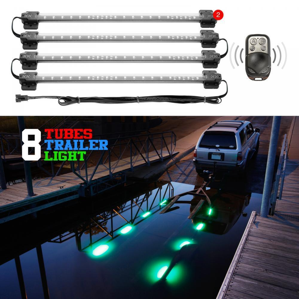 8pc Boat Trailer Loading Light Waterproof Multi Color