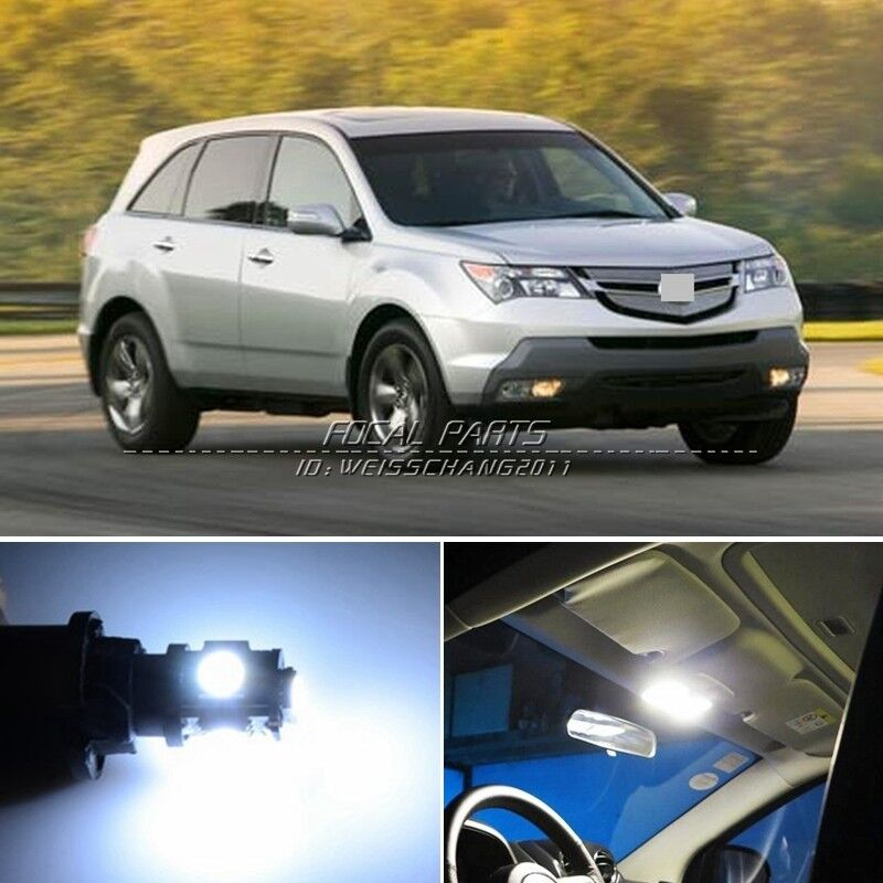 17 X Xenon White LED Lights Interior Package Kit For Acura