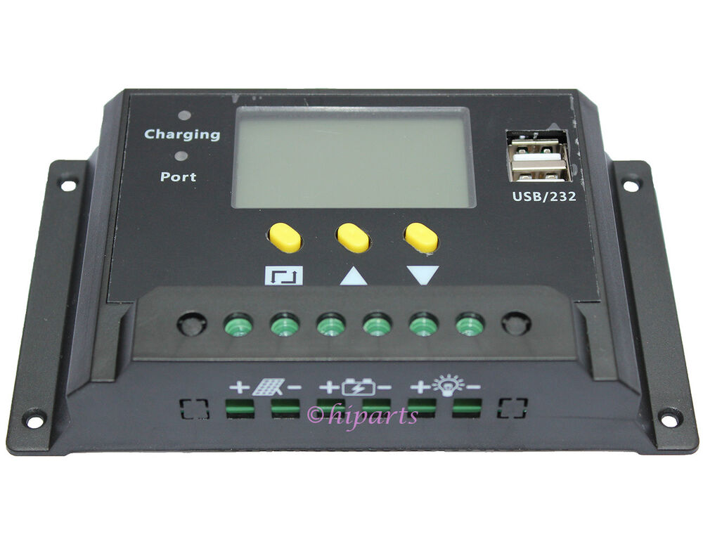 Lcd 30a Pwm Solar Panel Regulator Charge Controller 12v