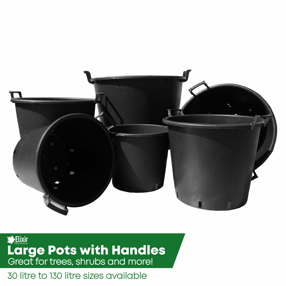Heavy Duty Plastic Container Pots/tubs With Handles 30