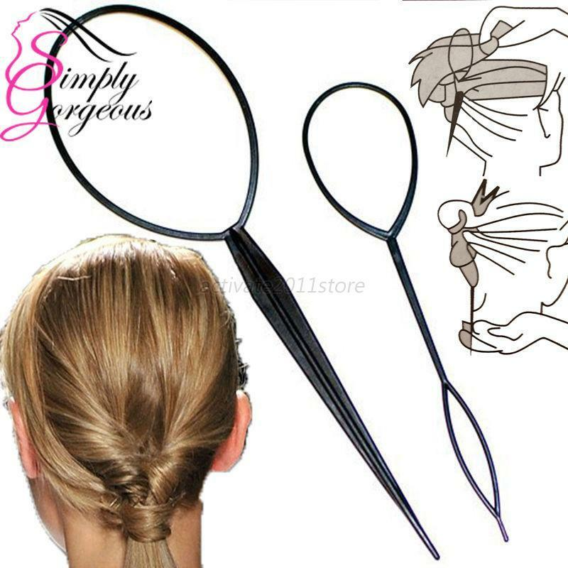 hair style tool new plastic topsy hair braid ponytail styling maker 2654 | s l1000