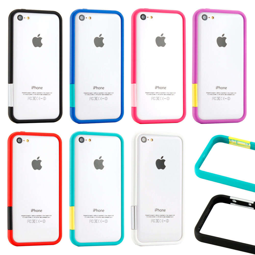 iphone 5c cover tpu bumper frame matte slim rubber color cover 11091