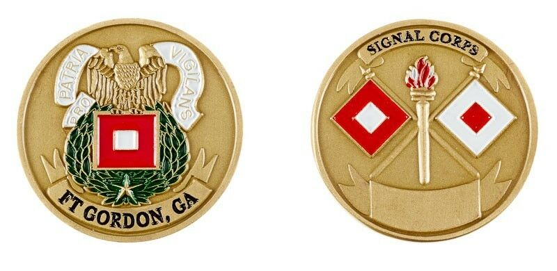ARMY FORT GORDON SIGNAL CORPS CHALLENGE COIN | eBay