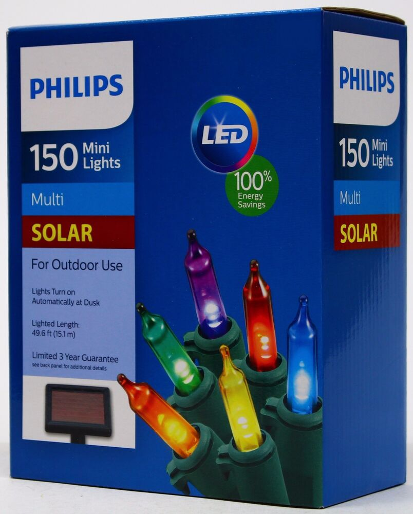 Philips solar powered led 150 multi color mini lights - Led light bulbs for exterior use ...