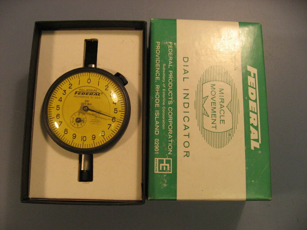 Federal Indicators Gages : Federal gage q dial indicator gauge mm with box ebay