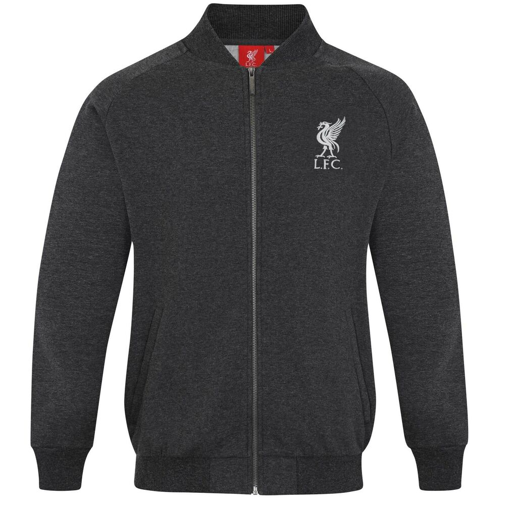 liverpool football club official gift mens retro varsity baseball jacket black ebay. Black Bedroom Furniture Sets. Home Design Ideas