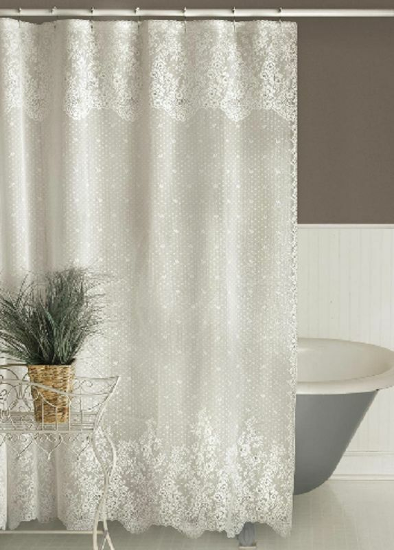 heritage lace floret shower curtain 2 colors select