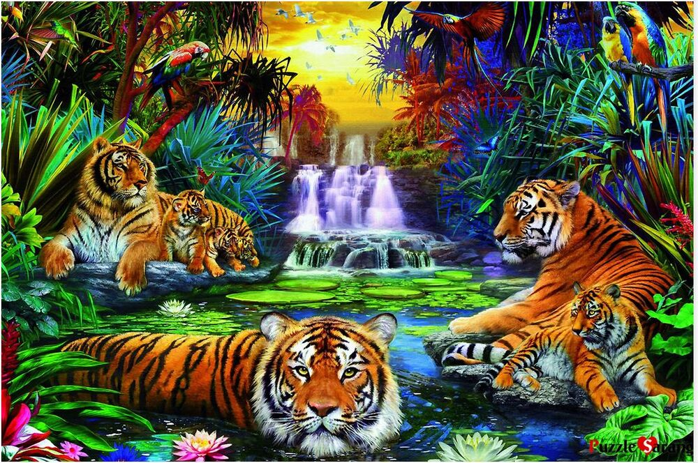 jigsaw puzzles 3000 pieces woods of tiger ravensburger ebay. Black Bedroom Furniture Sets. Home Design Ideas