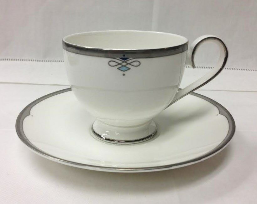 villeroy boch antibes teacup saucer white bone china. Black Bedroom Furniture Sets. Home Design Ideas