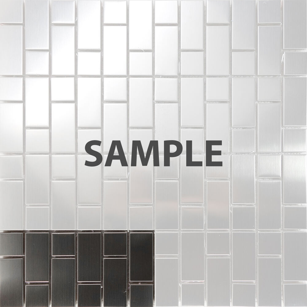 Sample Stainless Steel Metal Pattern Mosaic Tile Kitchen: Sample Stainless Steel Brushed Nickel Pattern Mosaic Tile