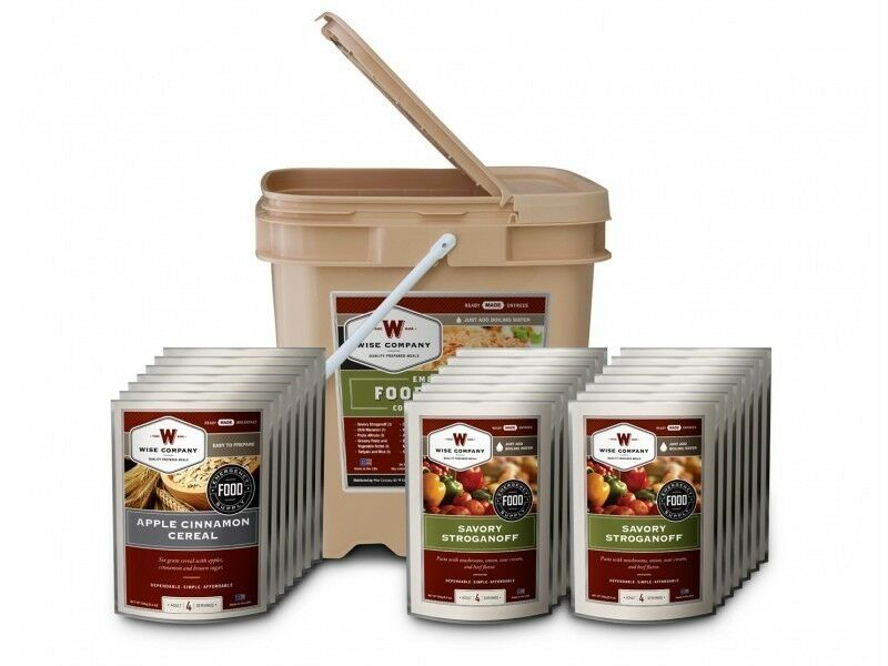Dried Foods For Emergency Preparedness: Wise Grab And Go 84 Meals Freeze Dried Survival Food MRE